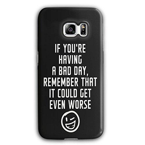 Optimistisch Sprichwort Komisch Winky Smiley Schwarz 3D Samsung Galaxy S6 Edge Plus Fall | Wellcoda