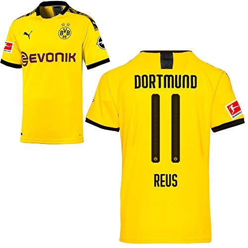 Puma Borussia Dortmund BVB Heimtrikot 2019/20 Home Trikot Sponsor BL Logo Herren Marco Reus 11 Gr M -
