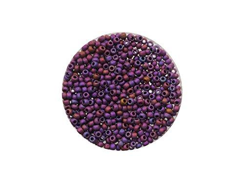 Frosted Grass (Creative Beads Toho Rocailles (japanische Glasperlen) 11/0, ca. 2,1mm, 5g, TR515F Higher-Metallic Frosted Mardi Grass hochwertigen Schmuck, Armband, Kette, Ohrring etc. selbermachen, zum Basteln, Dekorieren und Handarbeiten)