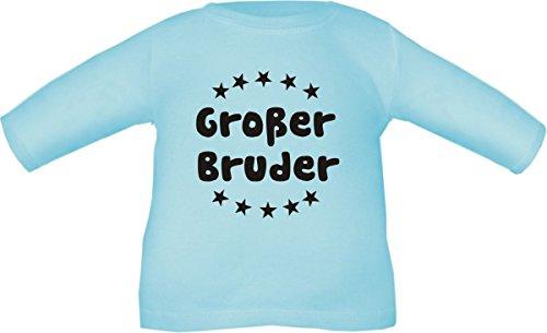 Baby/Kinder T-Shirt Langarm (Farbe hellblau) (Größe 98/104) Großer Bruder/Cook -