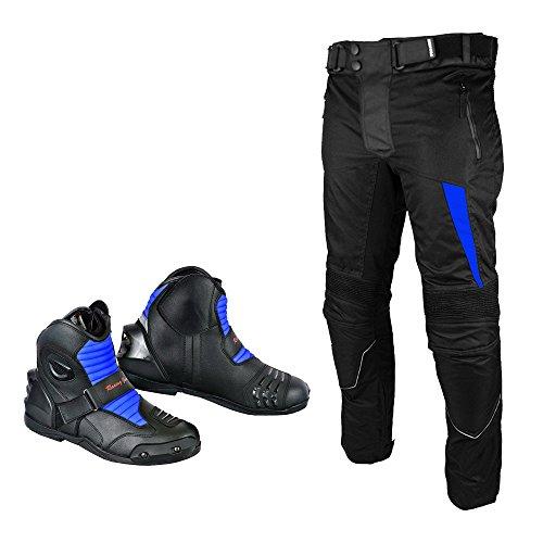 Preisvergleich Produktbild REXTEK Marke Neue Motorrad Motorrad Wasserdichte Cordura Textilhose Hosen Rüstungen Mit Motorrad Leder Stiefel Schuhe Für Herren