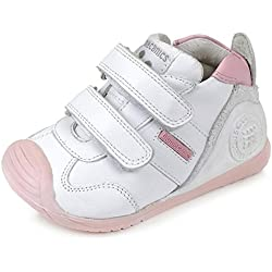 Biomecanics 151157, Zapatillas Infantil, Color Blanco Y Rosa (Sauvage), 19 EU