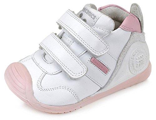 Biomecanics 151157, Zapatillas infantil, color Blanco Y Rosa (Sauvage), 19 EU