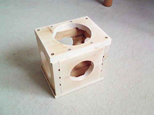 Massivholz Kletterwürfel Spielwürfel Spielzeug Würfel für Nager 17x13x17cm