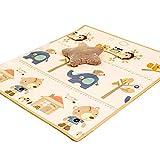 Spielmatten Krabbelmatten Krabbeldecke Baby Wohnzimmer Heimspiel Matte XPE Dicke grüne Matte Baby Kind Klettermatte geschmacklos Kleinkind Matte (Color : Yellow, Size : 120 * 180 * 1.7cm)