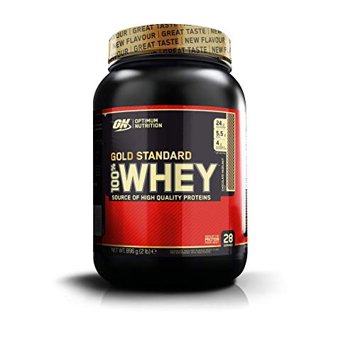 Optimum Nutrition Gold Standard 100% Whey Proteine del Siero di Latte in Polvere, Gusto Chocolate Hazelnut, 908 gr