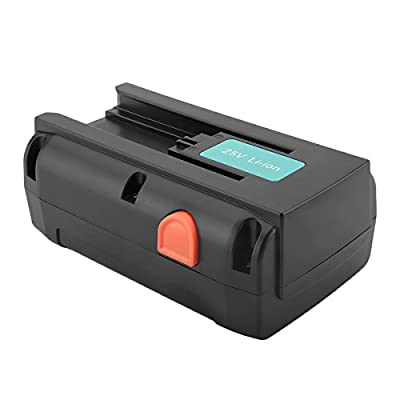 Creabest 25V 5000mAh Li-ion Replacement Battery for Gardena 04025-20 8838 380 LI Spindelmäher 380LI Spindelmäher 4025-20