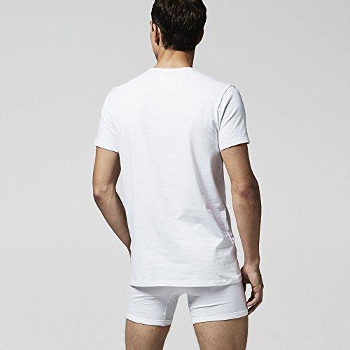 Lacoste Multipack C/N Tee (Dpk), Vestaglia Uomo (Pacco da 2) bianco