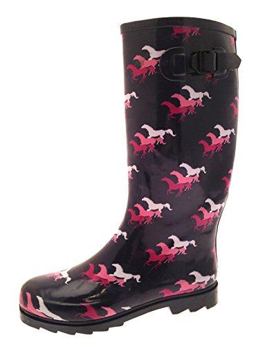 Lora Dora Womens Knee Length Wellington Boots
