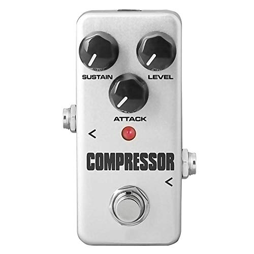 Yyqxhly Efectos Guitarra eléctrica Pedal Mini Compresor