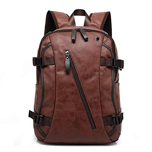 Fur Jaden 20 Ltrs Brown Faux Leather Water Resistant Anti Theft Laptop Backpack