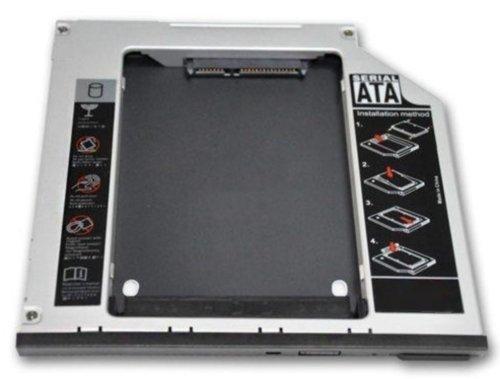HDD/SSD Caddy für Dell E4200 E4300 E4500 E6140 E6400 E6410 E6500 E6510 M2400 M4400 M6400 - Festplattenrahmen Adapter 9.5 mm SATA auf SATA - TheNatural2020