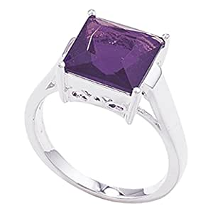 Sterling Silver Amethyst Ring - Size R
