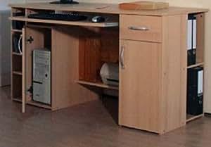 pc tisch schreibtisch buche b rotisch computertisch buche 424 k che haushalt. Black Bedroom Furniture Sets. Home Design Ideas