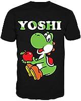 Nintendo T-Shirt -L- Yoshi, schwarz