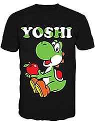 T-Shirt 'Super Mario Bros' - Yoshi - Noir - L