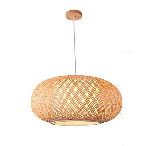 Pantalla De Bambú Hecha A Mano, Cortina De Techo Colgante, DIY Mimbre Lámpara De Ratán Cortinas Tejer Luz Colgante