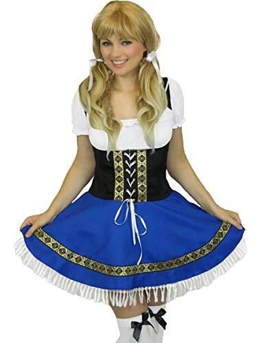 Yummy Bee - Oktoberfest Bier Mädchen + Strümpfe Karneval Fasching Kostüm Damen Größe 36 - 54 ()