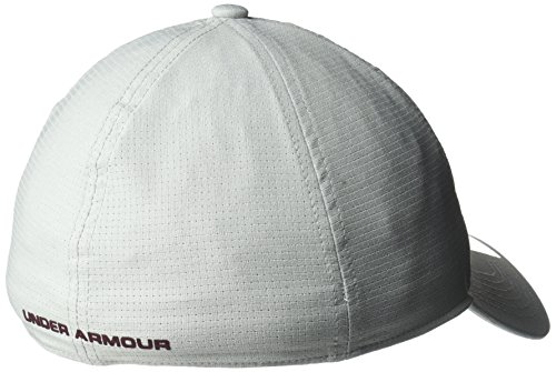 Under Armour Uomo Cappellini / Flexfitted Cap AirVent Overcast Gray/Raisin Red