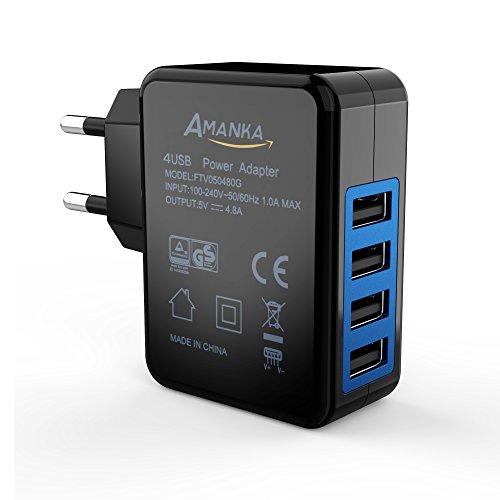 Caricatore USB 24W da Muro Portatile