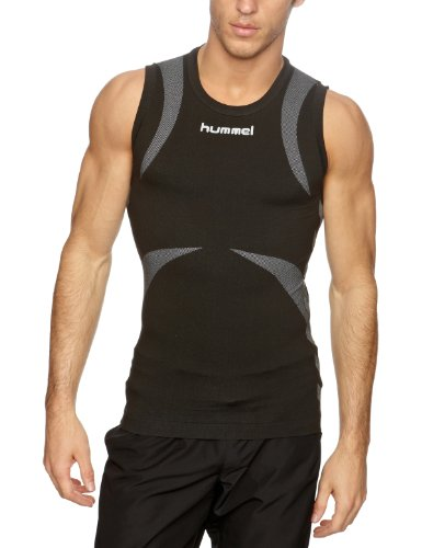 Hummel Tanktop BASELAYER JERSEY SLEEVELESS, Black/Dark Grey, M/L, 07-935-2055 (Jersey Running Sleeveless)
