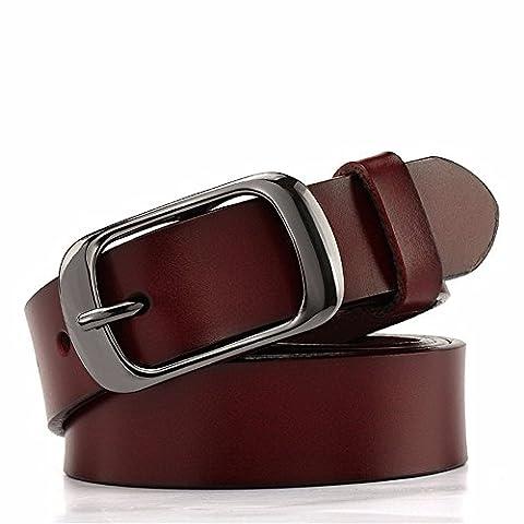 LONFENNE Women Belt Leather Leisure Simple belt