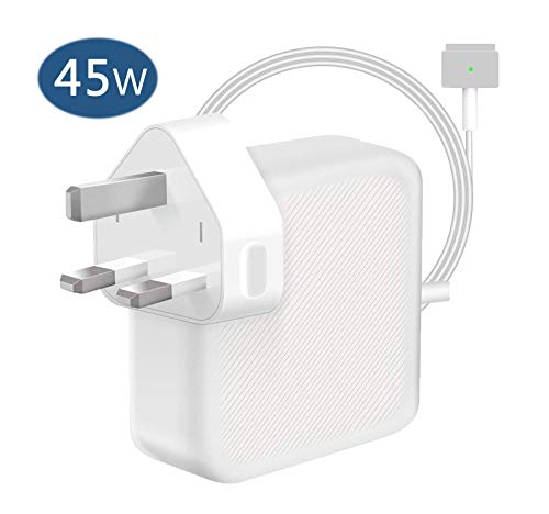 TOPSELL® Compatible With MacBook Air Charger?45W Magsafe 2 Magnetic T-Tip Power Adaper Charger, Replacement With MacBook Air 11-inch 13-inch - Mid 2012, 2013, 2014, 2015, 2017 2018 Models A1465 A1466