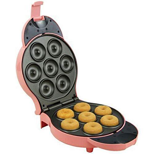 Donut-maker, Donut maker Non-stick Backplatten Haushalt Vollautomatische Waschbar Donut-maker-Rosa 27x19.5x10.5cm(11x8x4inch)