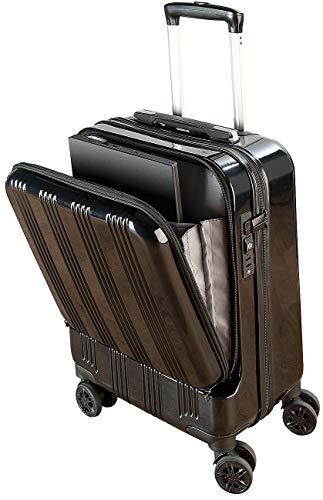 Xcase Koffer: Handgepäck-Trolley mit Laptop-Fach, Powerbank-Anschluss, TSA, 30 l (Notebookkoffer USB)