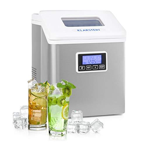 Klarstein Clearcube LCD máquina de hielos - hielo claro, 15-20 kg de hielo al día, deposito de agua...