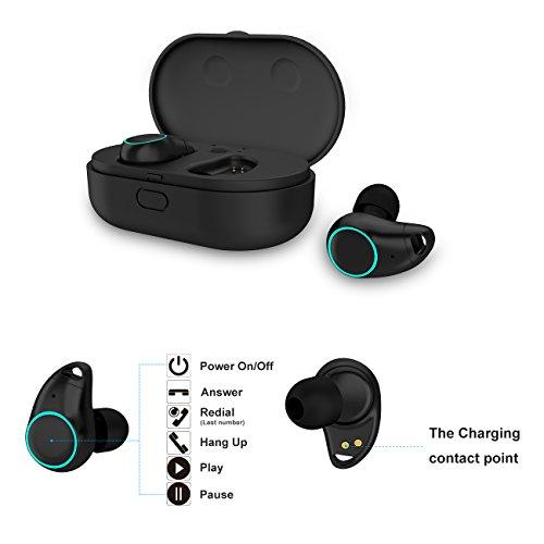 Arbily Mini auricolare Bluetooth 4.2 Cuffie auricolari in ear bluetooth senza fili Wireless Auricolare invisibile Cancellazione del Rumore Touch