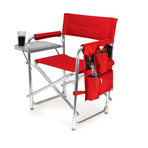 picnic-time-portable-folding-sports-chair-red