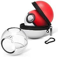 Estuche de Transporte para Pokemon Poke Ball Plus,HEYSTOP Rígida Portátil de Viaje Funda Protectora y Funda de Transporte Funda para Bola de Poke para Nintendo Switch Accesorios (2 Unidades)