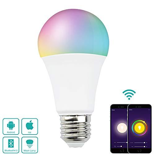 Bonlux 7 W Bombilla Altavoz Bluetooth WiFi mehrfarbig LED E27 verstellbar RGB Globo Bombilla Intetée E27 Smart Life (steuerbar Mando über App, kompatibel mit Amazon Alexa, Google Home) Ltd Bluetooth
