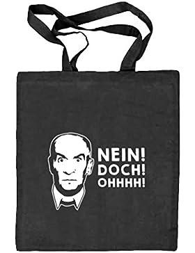 Shirtstreet24, NEIN! DOCH! OHHHH! Natur Stoffbeutel Jute Tasche (ONE SIZE)