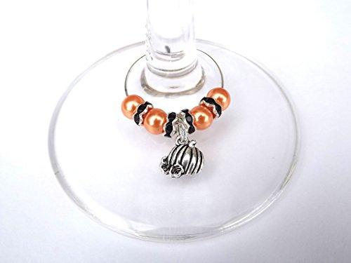 Halloween Dinner Party Wein Glas Charm Ring Getränke Marker kürbis (Halloween öffnen Kürbis)