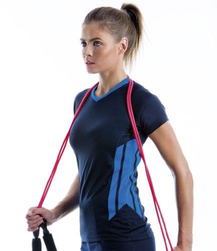 Cooltex T-Shirt d'entraînement pour femme Gris-bleu