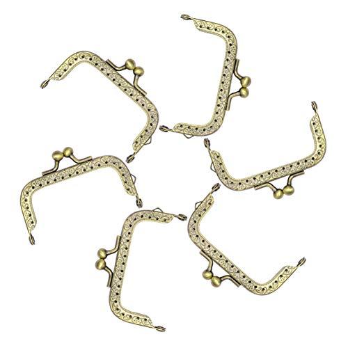Tornado 10 Stück Metall Geldbörse Taschen-Rahmen Kiss Verschluss Verschluss Bogen DIY Ton Clip Dekor Bronze Ton Stil 1 -