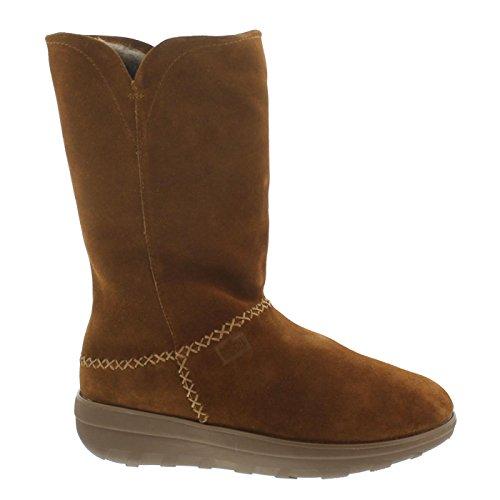 Fitflop Mukluk Boots (Fitflop Supercush Mukluk Boots, Warmfutter, Veloursleder, chestnut C73-047, Größe 39)