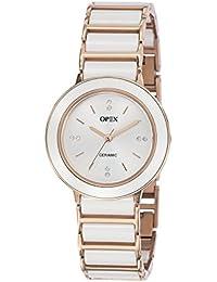 Opex - X3926CA2 - Luxia - Montre Femme - Quartz Analogique - Cadran Argent - Bracelet Céramique Blanc