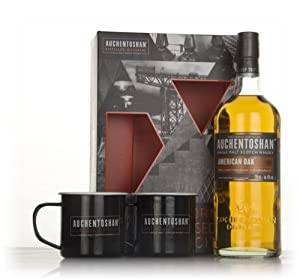 Auchentoshan American Oak Gift Pack with 2x Cups Single Malt Whisky by Auchentoshan