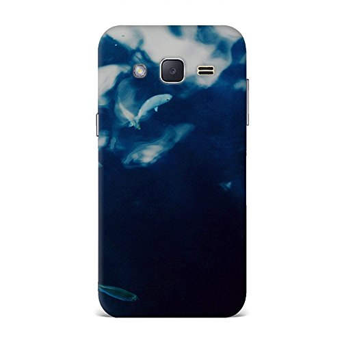 Samsung J2 Case, Samsung J2 Hard Protective SLIM Printed Cover [Shock Resistant Hard Back Cover Case] for Samsung J2 - Water Lake Fish Nature Indigo Blue  available at amazon for Rs.375