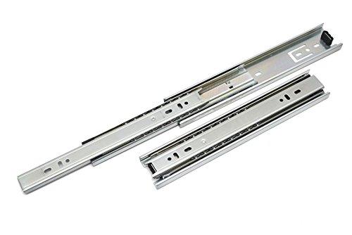 Lot de 1 Coulisse de tiroir rails télescopiques tiroir montage latéral H45 L-650