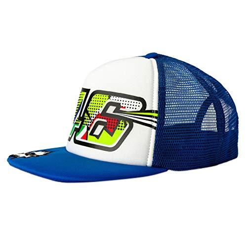 VR46 Valentino Rossi Kids Flatbrim Cap Kinder Pop Art Blau/Weiß Junior Jungen