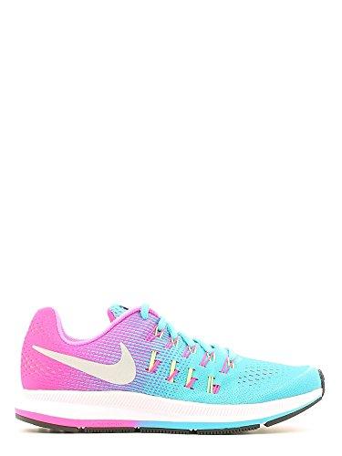 Nike Zoom Pegasus 33 (Gs), Chaussures de Sport Fille, Talla Unica Azul (Azul (Gamma Blue / Mtllc Slvr-Pnk Blst))