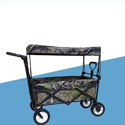 Carro de compras YLLXX Pet Child Supermarket Shopping Plegable Carretilla Pesca Al Aire Libre Camping Portable Hand Truck (Camuflaje) (85 * 50 * 28Cm)