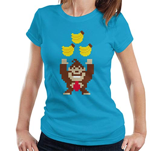 Bananas Pixel Art Donkey Kong Women's T-Shirt