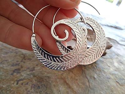 ? Boucles D'oreilles Silver Spiral Creols ?