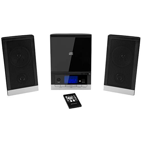 MEDION E64704 Kompaktanlage mit CD (Stereoanlage, AUX, PLL UKW Radio, 5 Soundvoreinstellungen, Einschlafautomatik, Weckfunktion, Kopfhöreranschluss, 2 x 25 Watt max. Musikausgangsleistung)