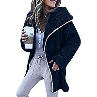 Damen Kapuzenmantel Teddy-Fleece Steppjacke Wintermantel Lang Strickjacke Jacke Mantel Kapuzenmantel Outwear Trenchcoat Coat Winterjacke